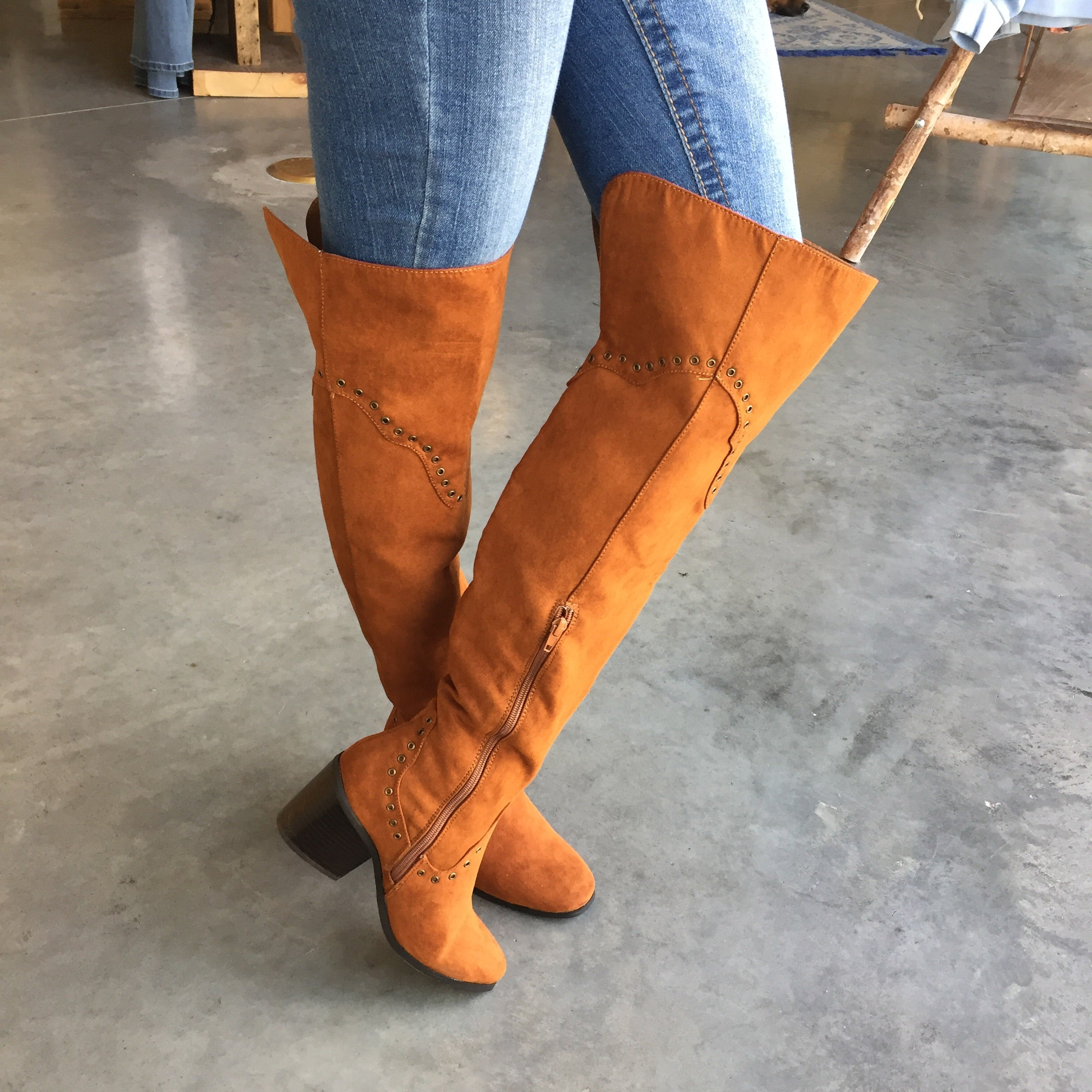 mode, gemini over the knee boot