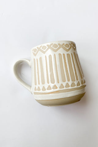 mode, markings stone mug