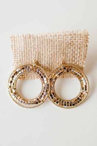 mode, beaded mixed metals hoop