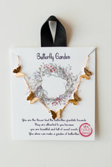 mode, butterly garden necklace