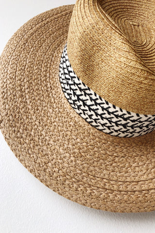 mode, up from here braid trim hat