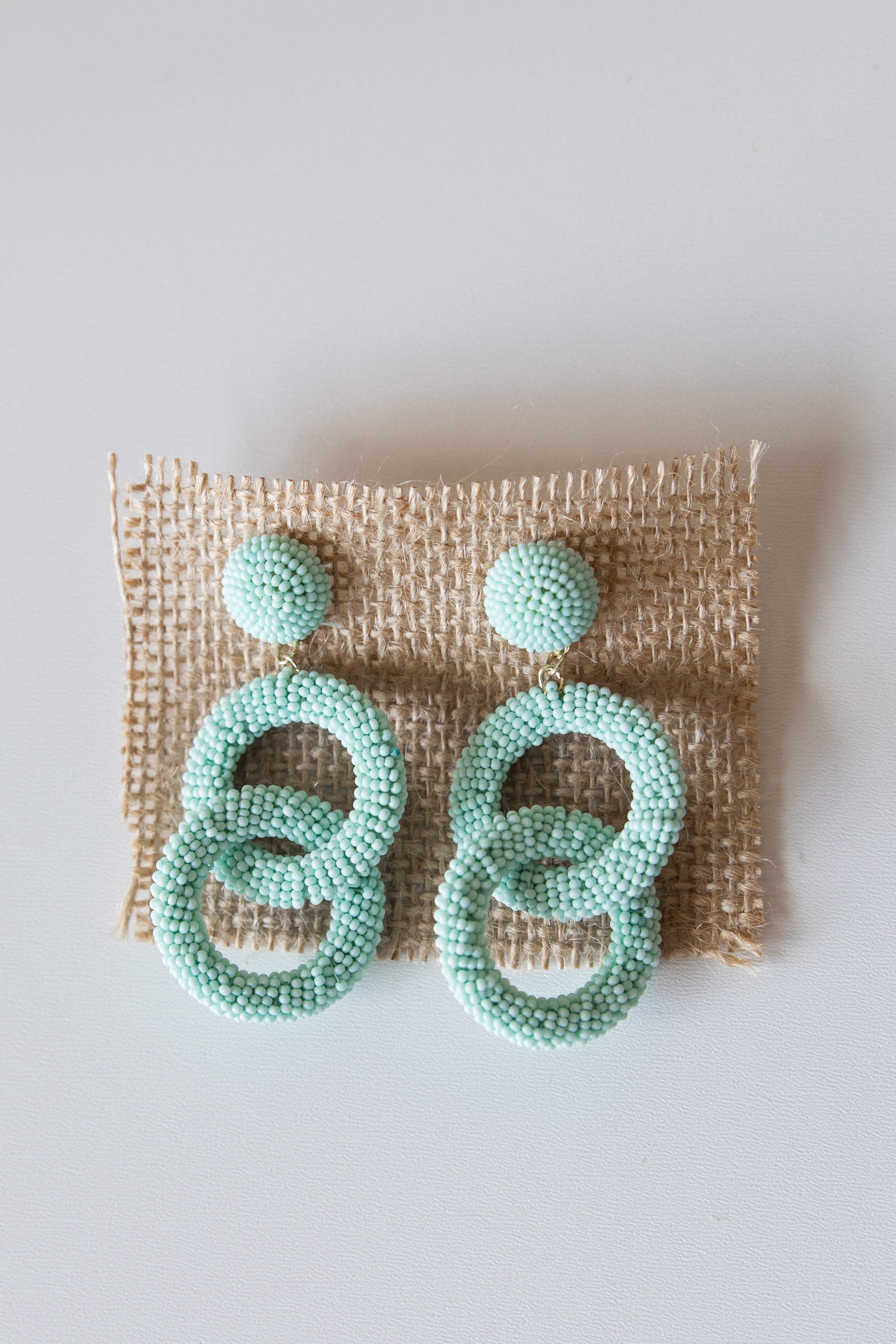 mode, duo circle beaded earring