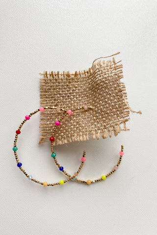 mode, color pops beaded hoop