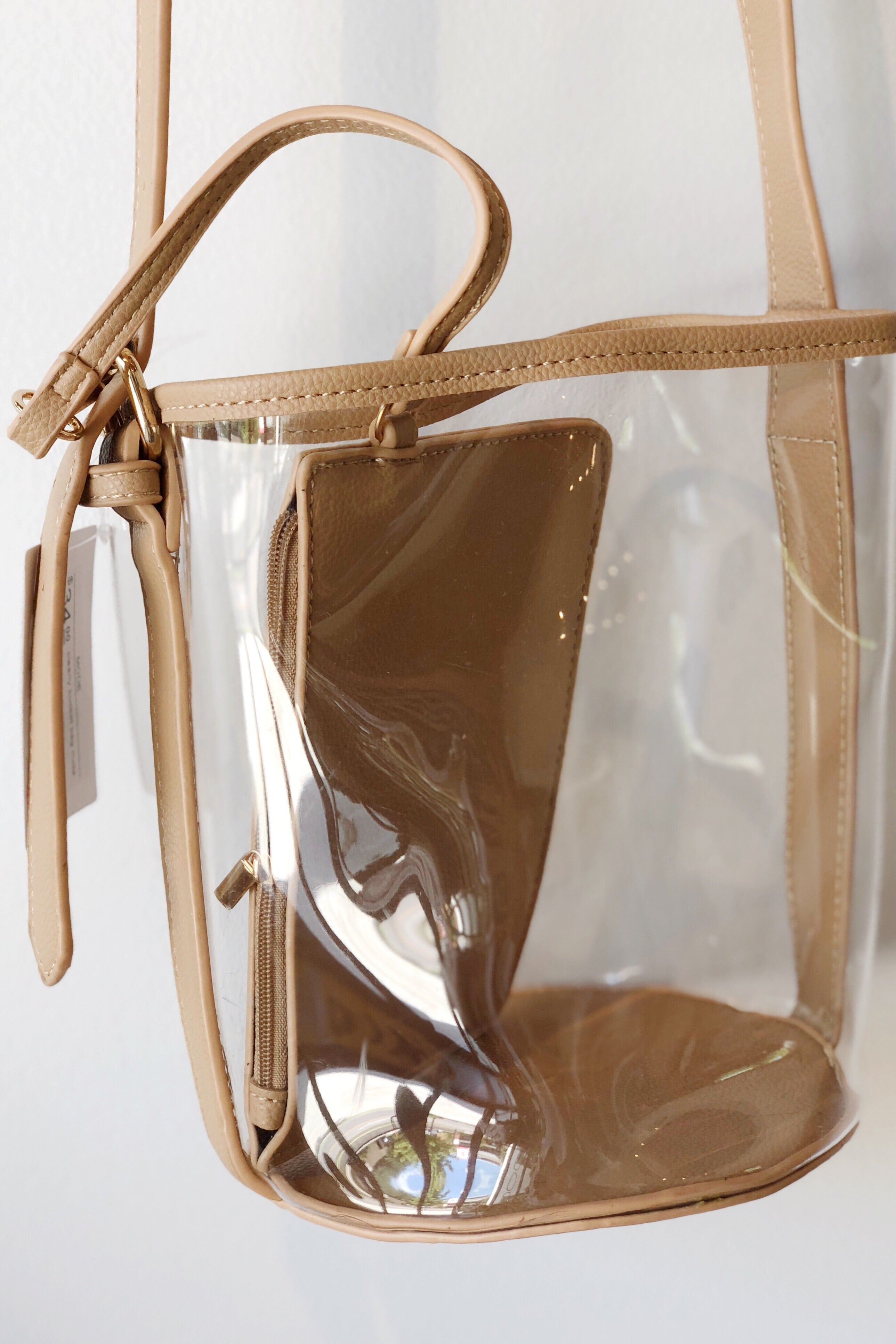 clearly bucket bag