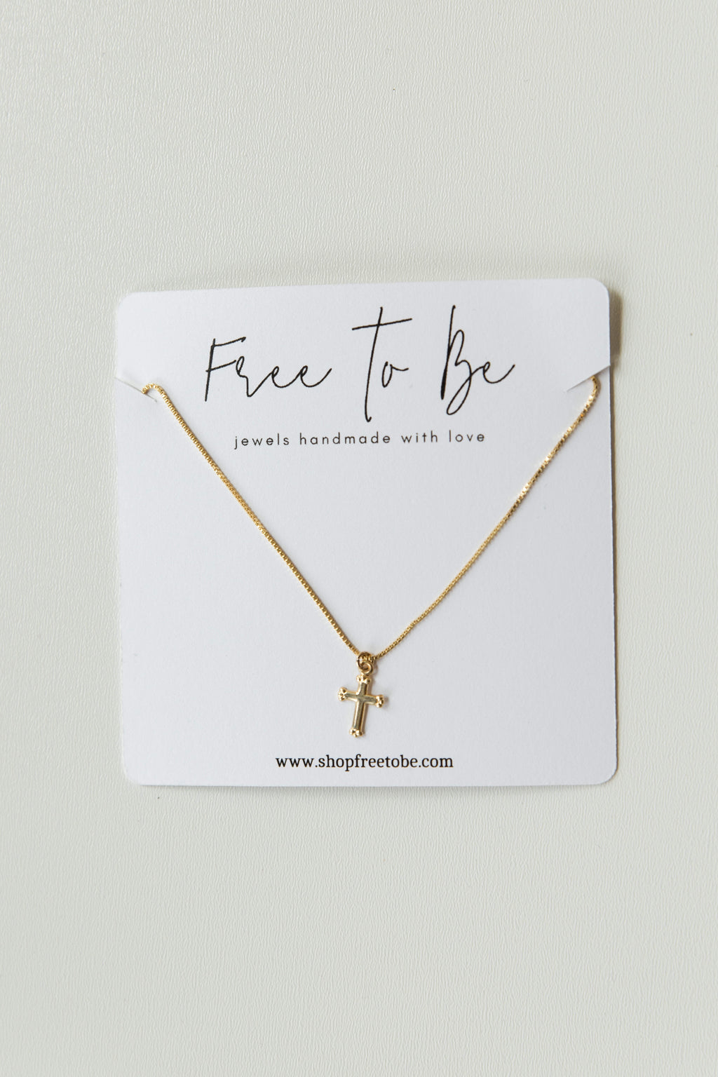 mode, 14k gold-filled dainty cross necklace