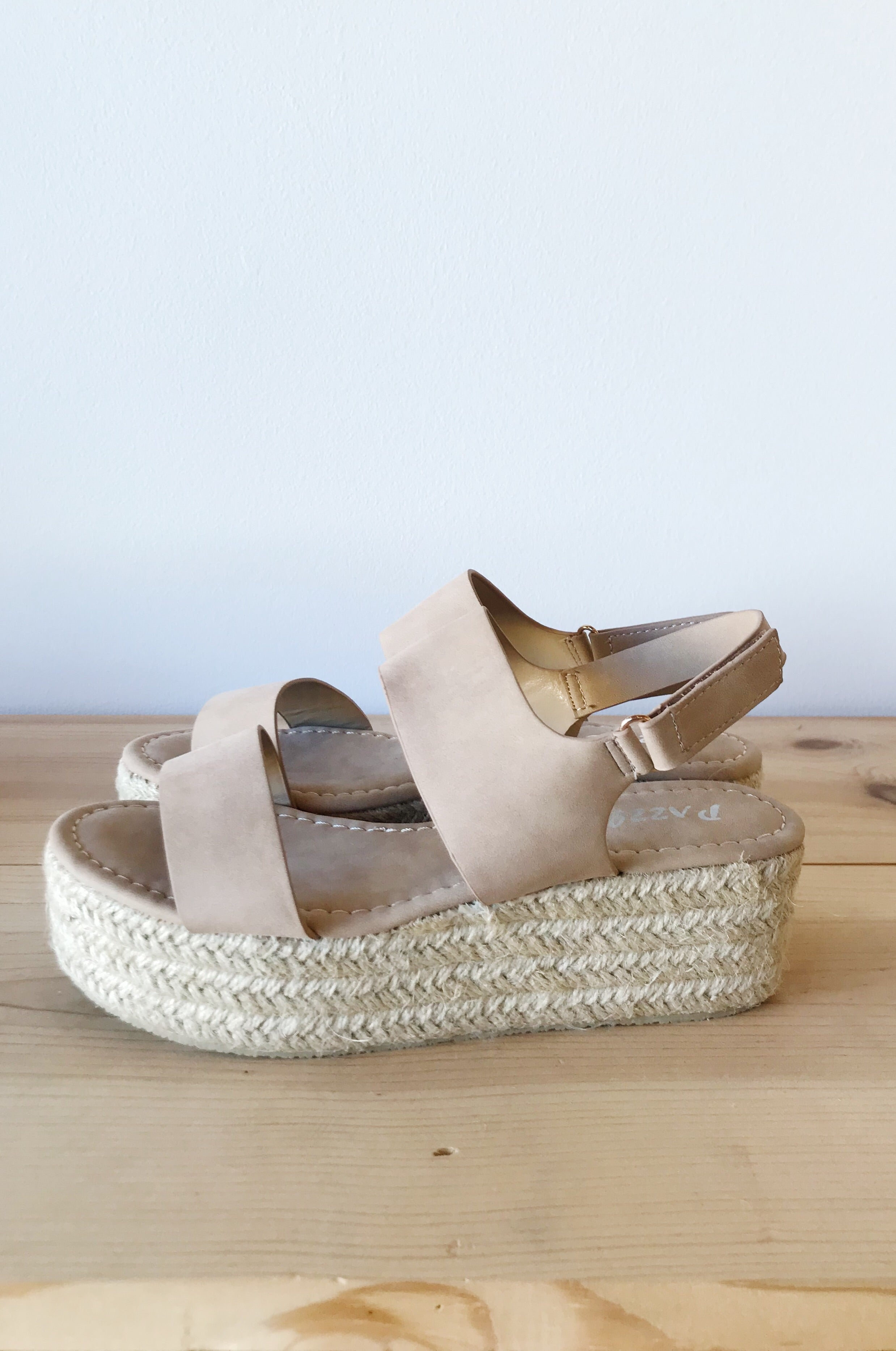 mode, Bloom espadrille platform wedge