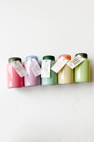mode, lolli 8 oz glass candle