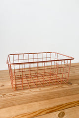 mode, rose gold basket