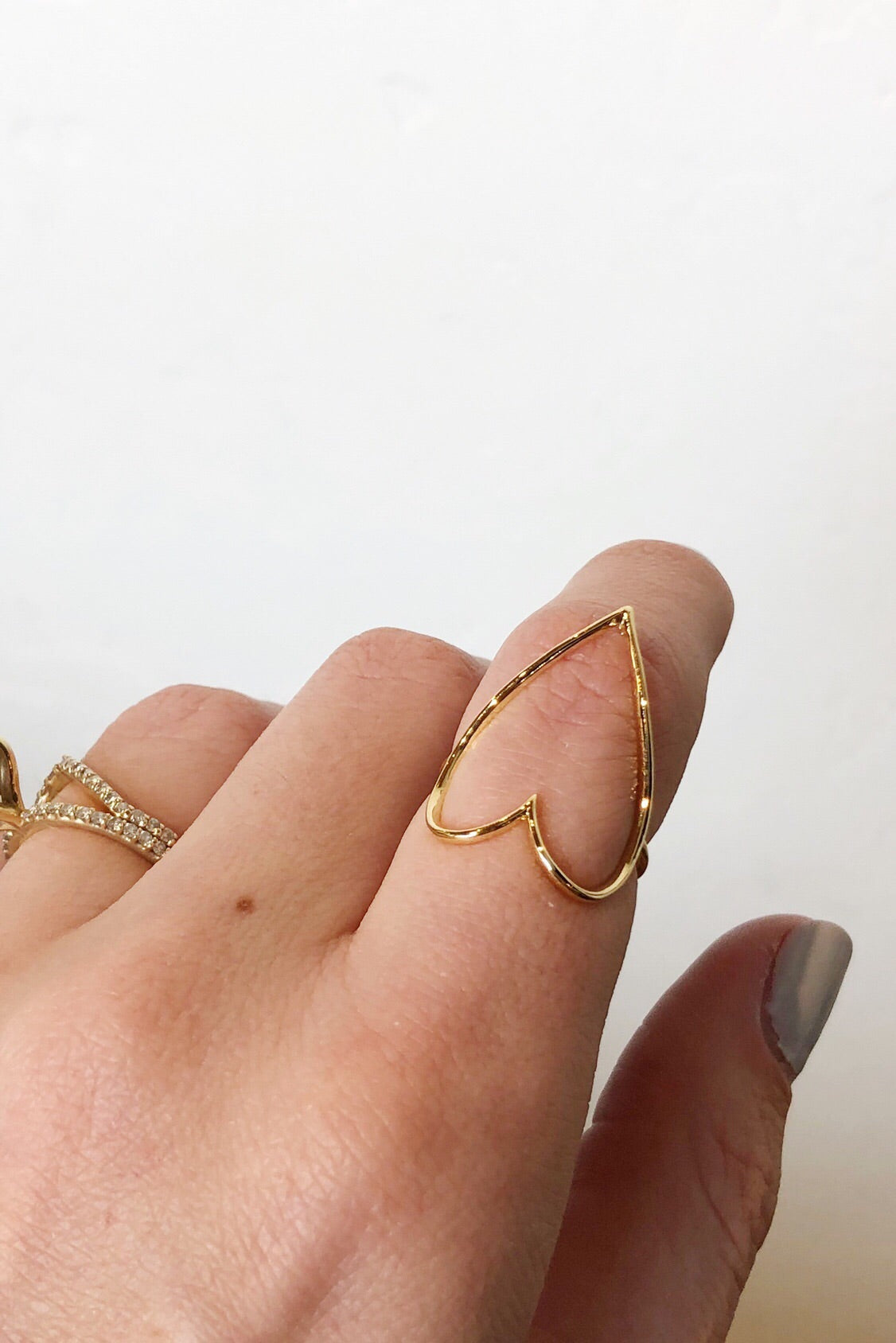 mode, open heart ring