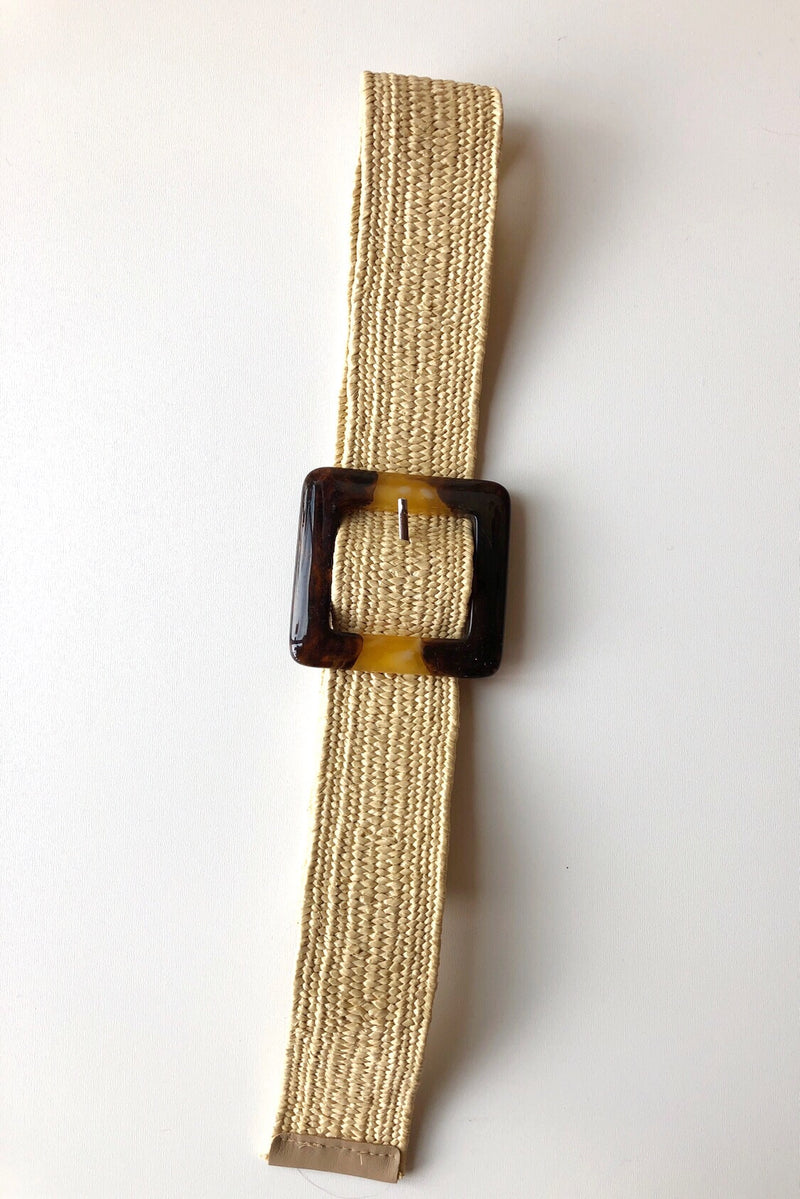 mode, woven belt + tort square buckle