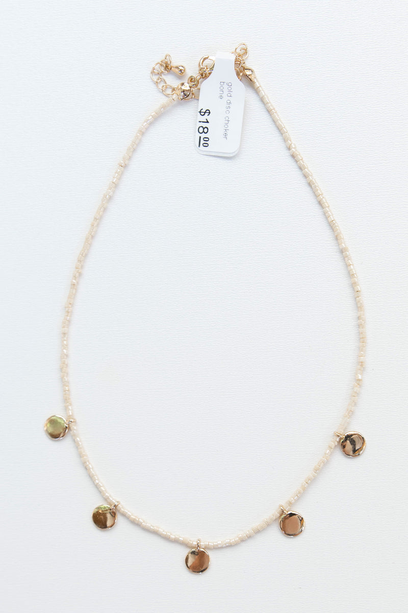 mode, gold disc choker