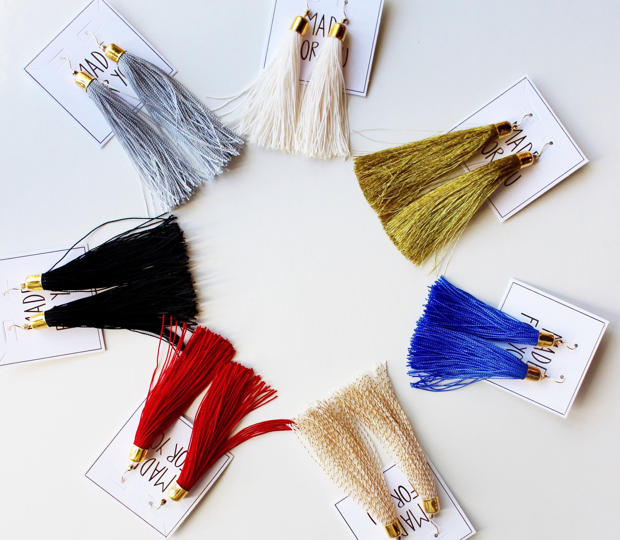 mode, classic tassel earrings