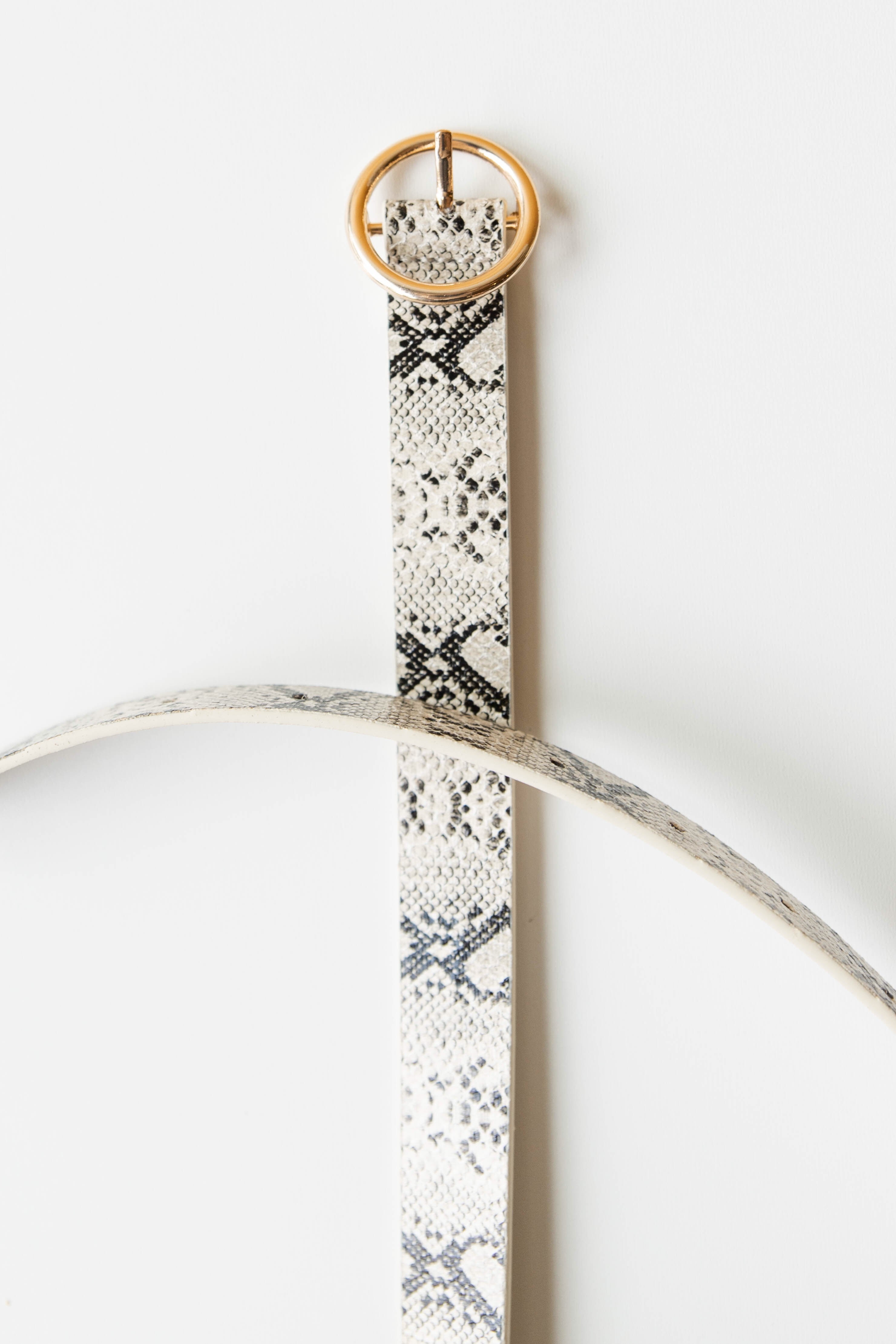 mode, gold buckle python belt
