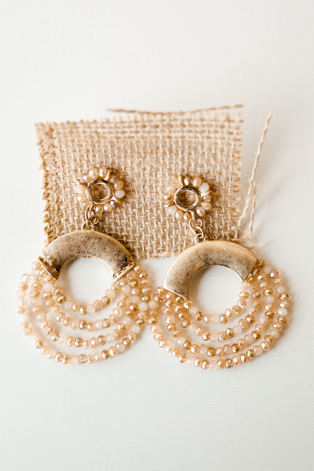 mode, beaded stream earring
