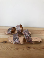glimmer double strap sandal