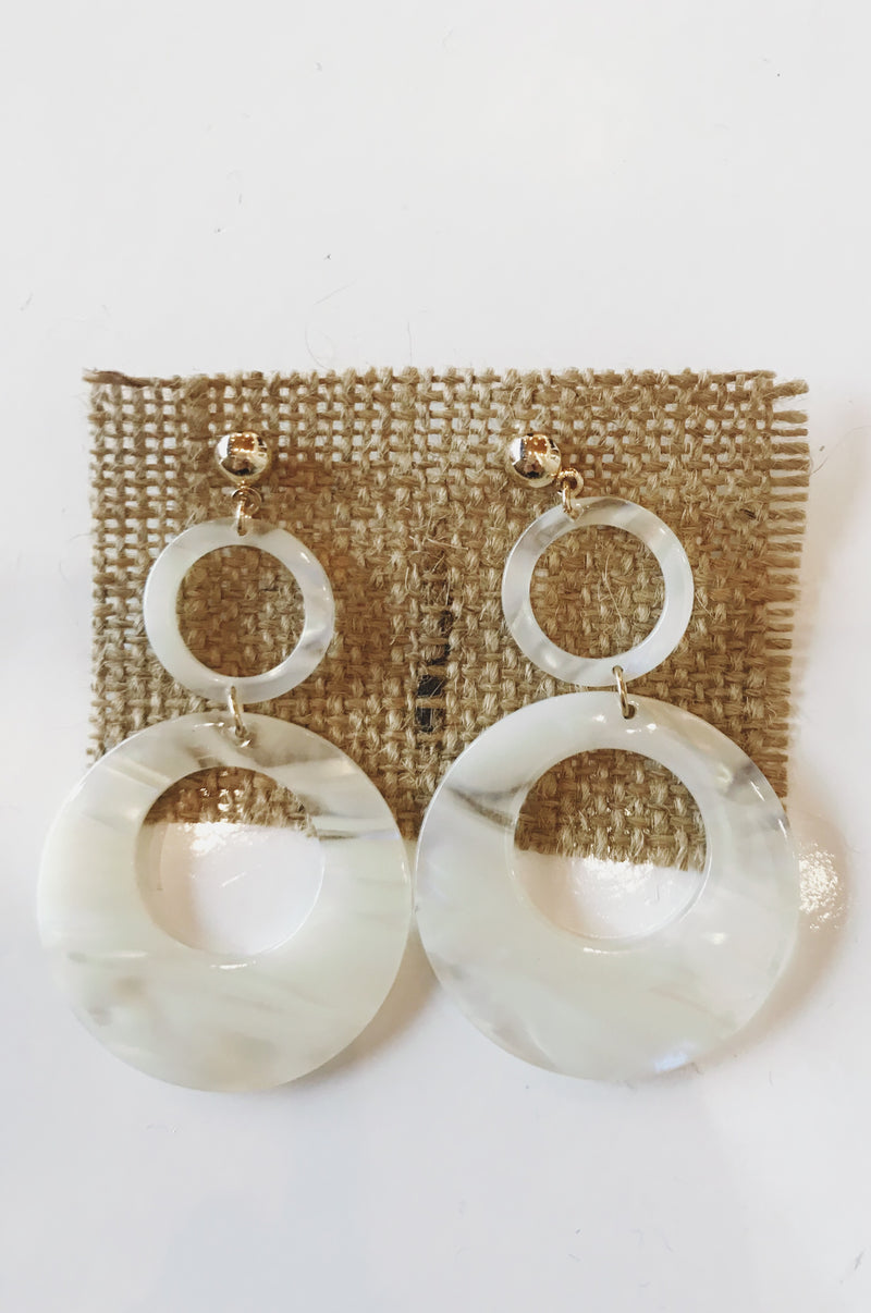 mode, duo hoop earring