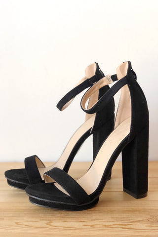 saint box cut block heel