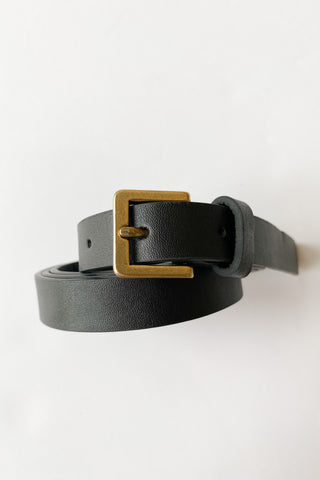 committed thin croc belt