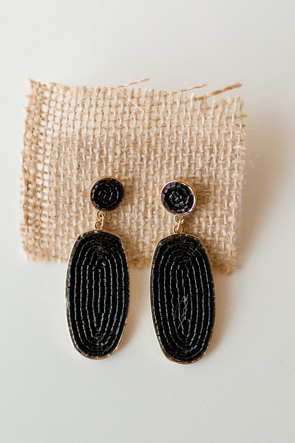 mode, beaded drop earring