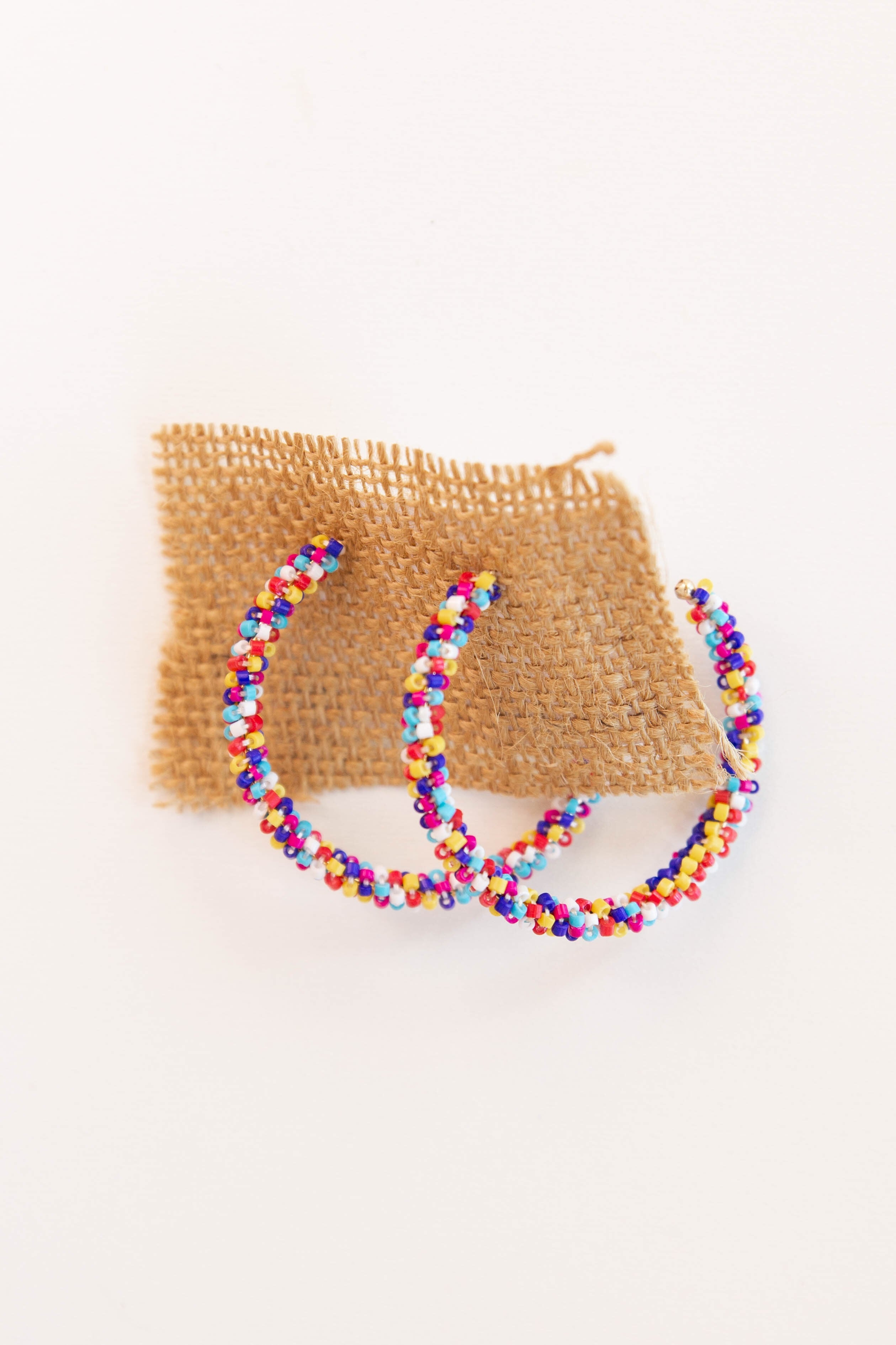 mode, party beads hoop earring