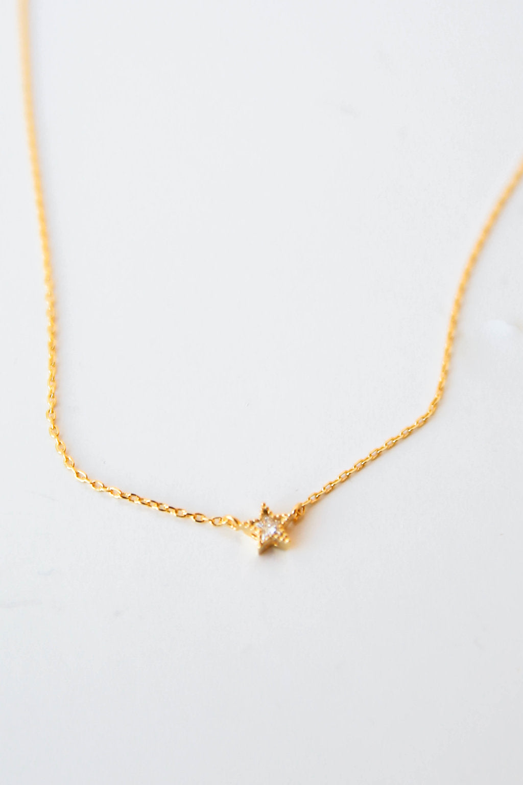 minimalist product star necklace small metal jewelry clay pendant bronze tiny gold