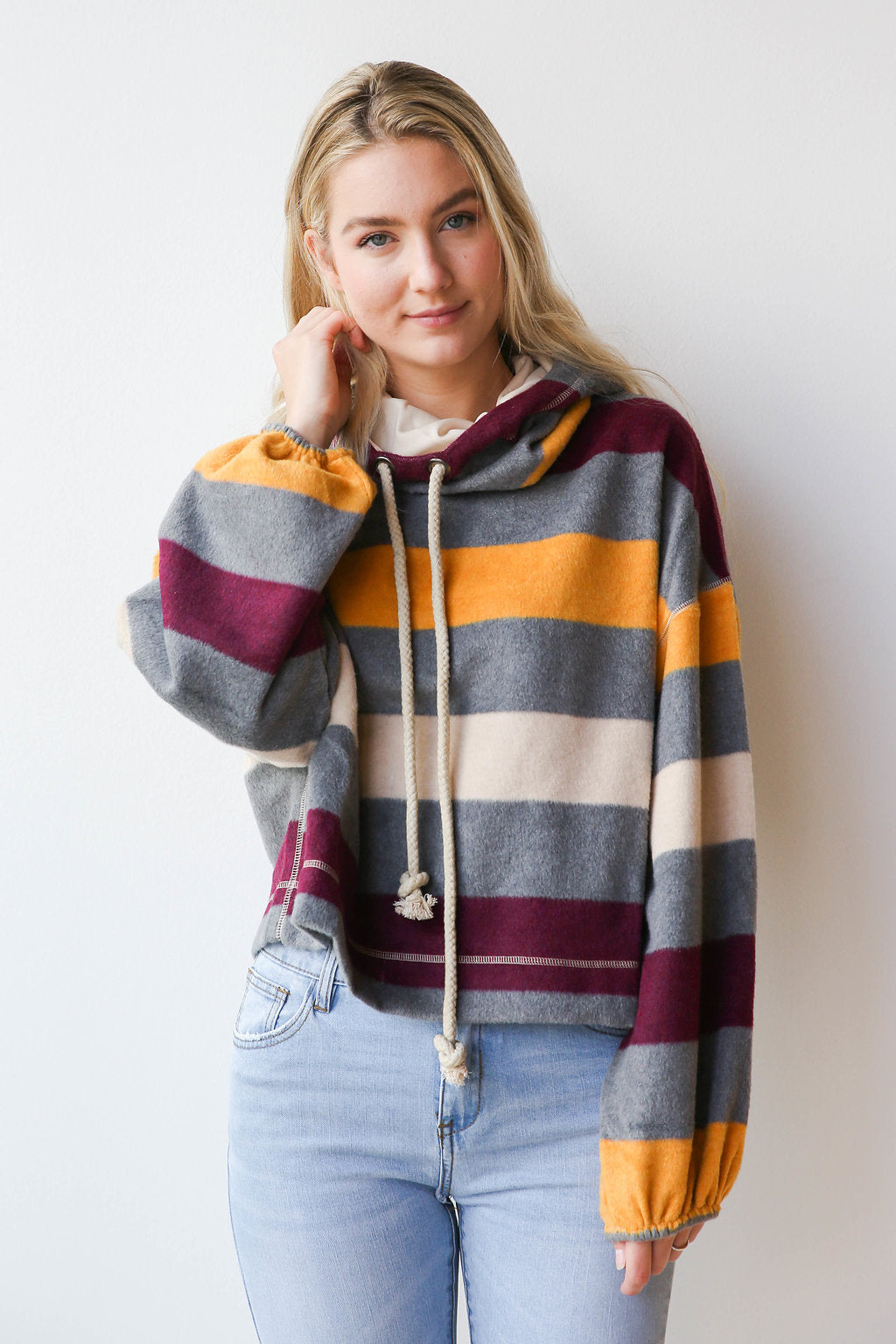 mode, Arizona striped fleece