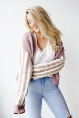 Kandy stripe sleeve cardigan