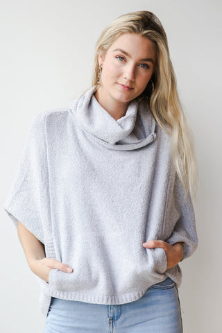 clear skies funnel neck sweater