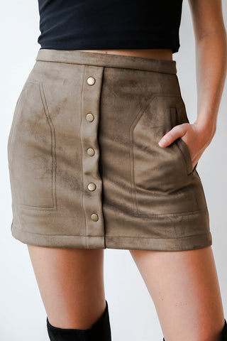 undeniable suede skirt