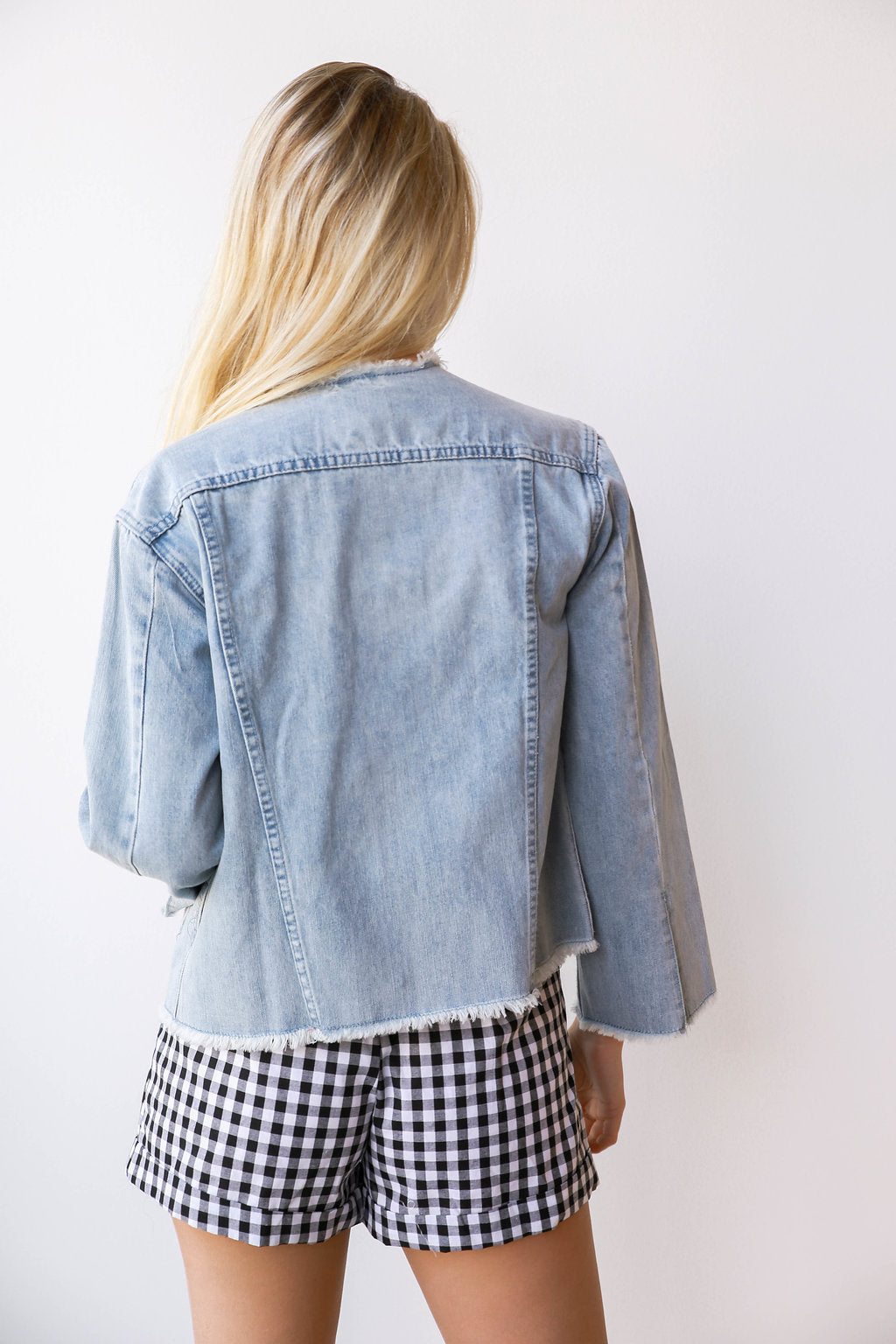 mode, California love denim jacket