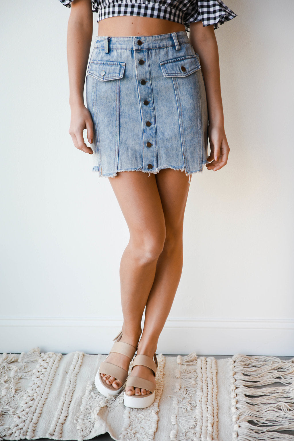 mode, good jeans denim skirt