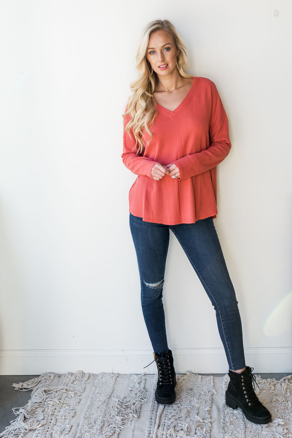 mode, good vibes layering top