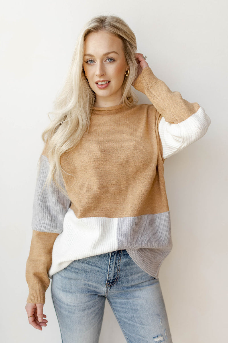 neutral favor sweater