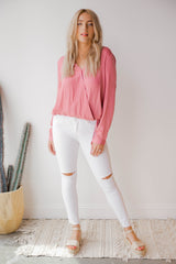 criss cross wrap blouse