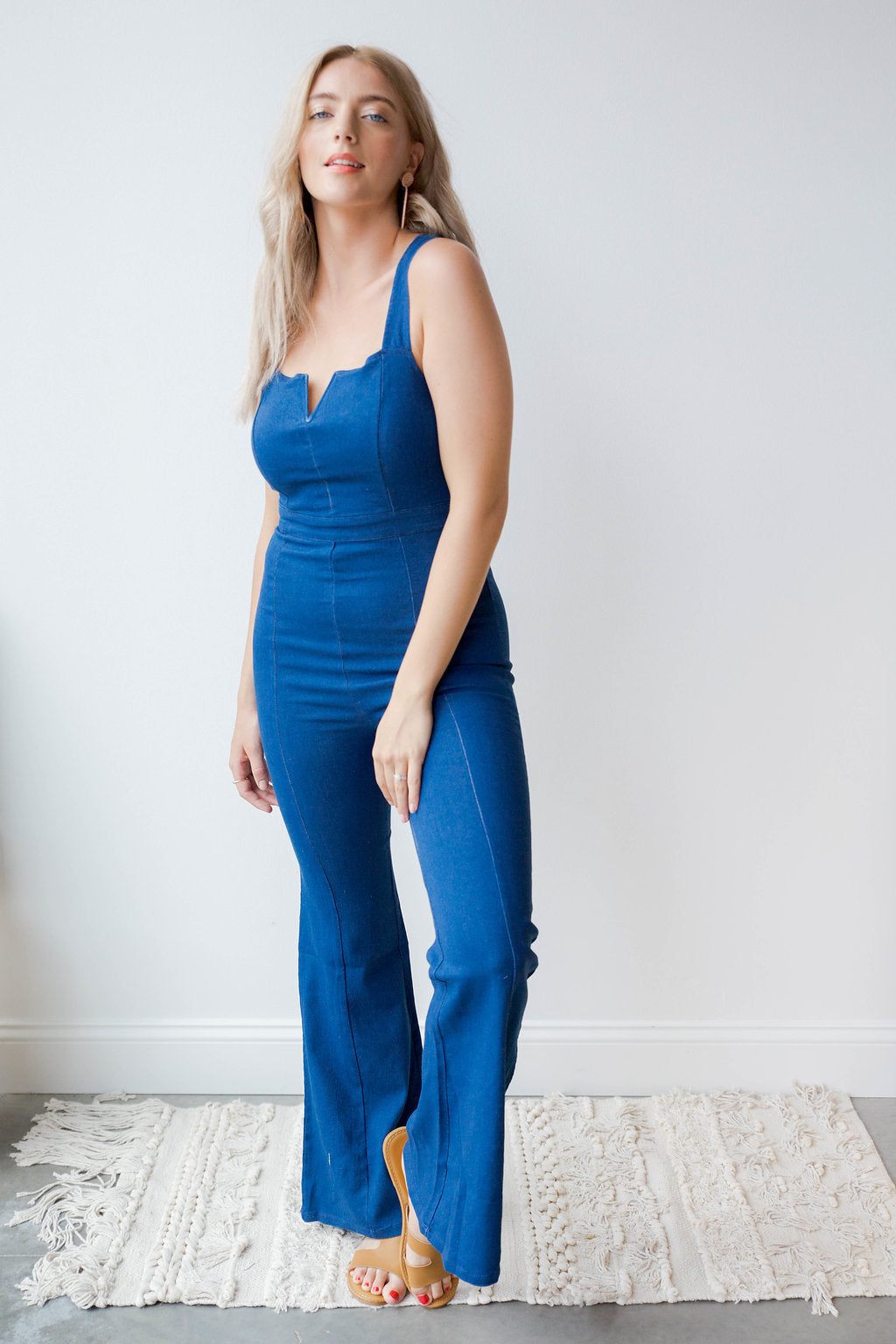 Retro flared jumpsuit