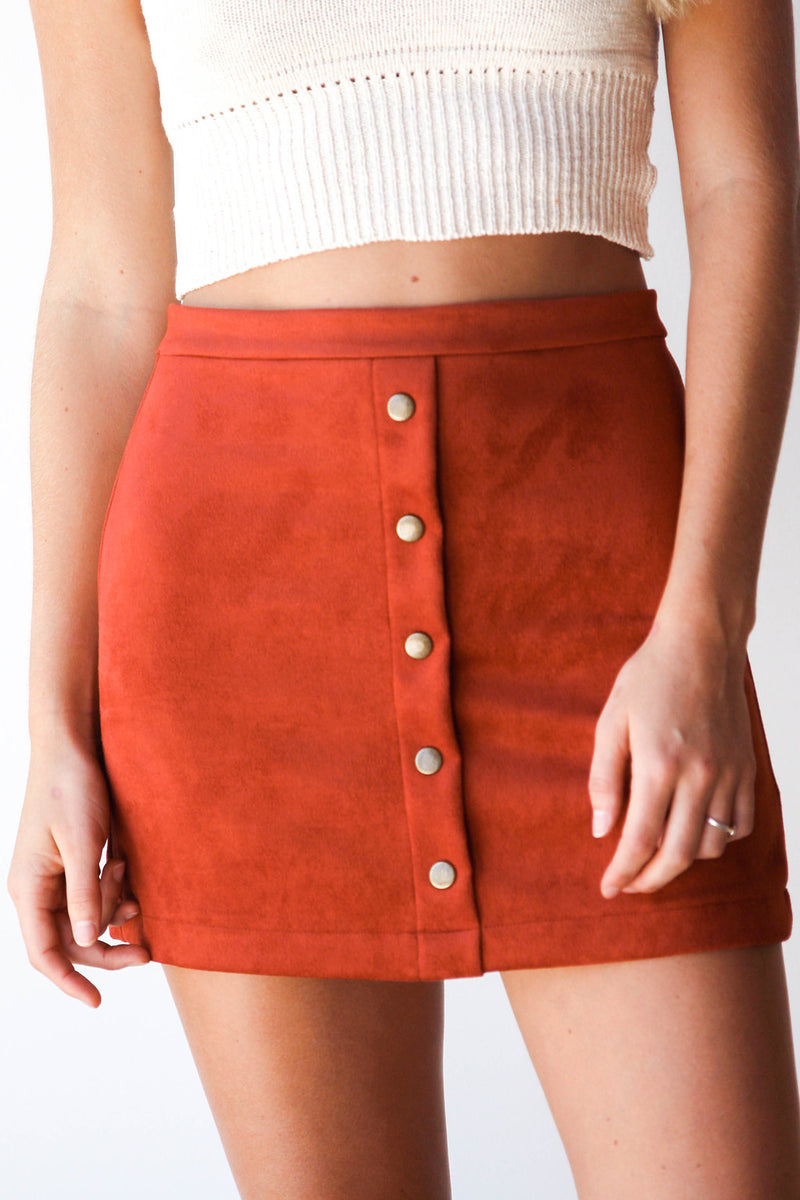 mode, persuede skirt