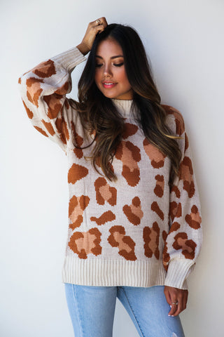 wild giraffe sweater