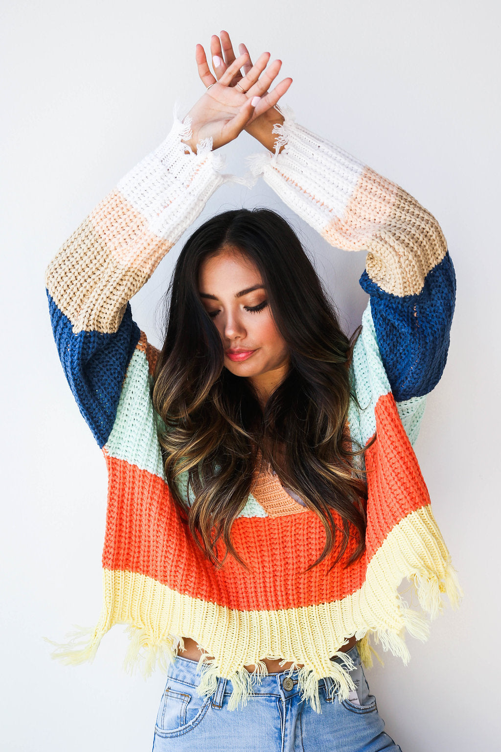 mode, sunrise to sunset sweater