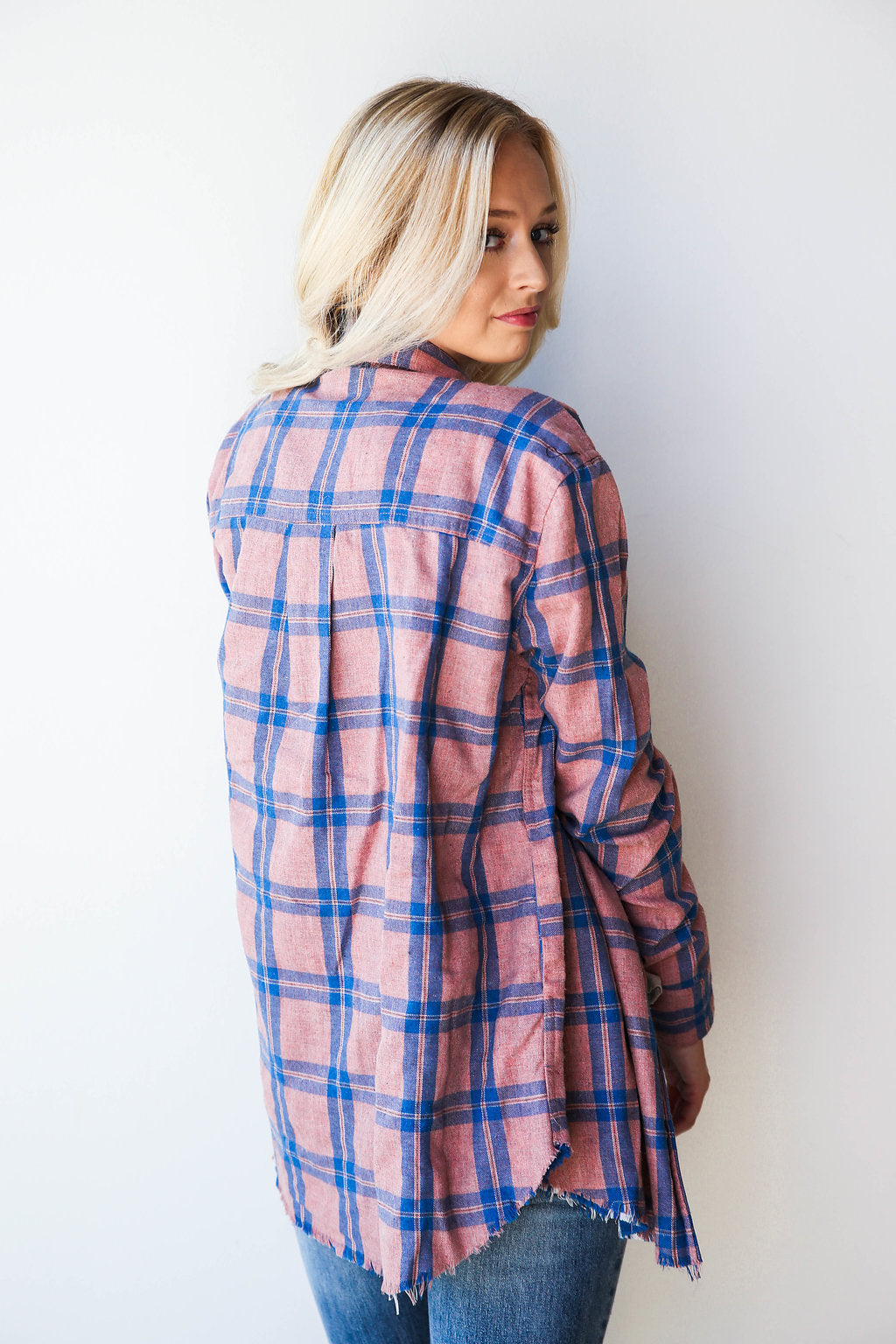 mode, inside and out plaid jacket