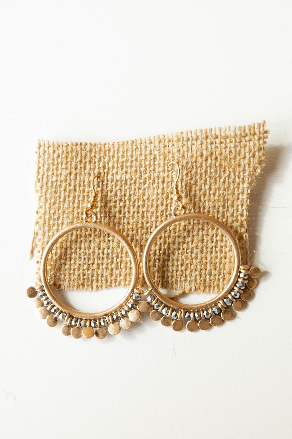 mode, gleam hoop earring