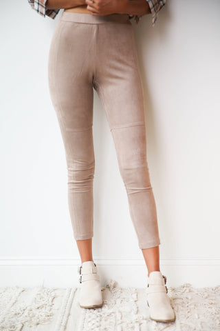 [shop name], suede appeal leggings