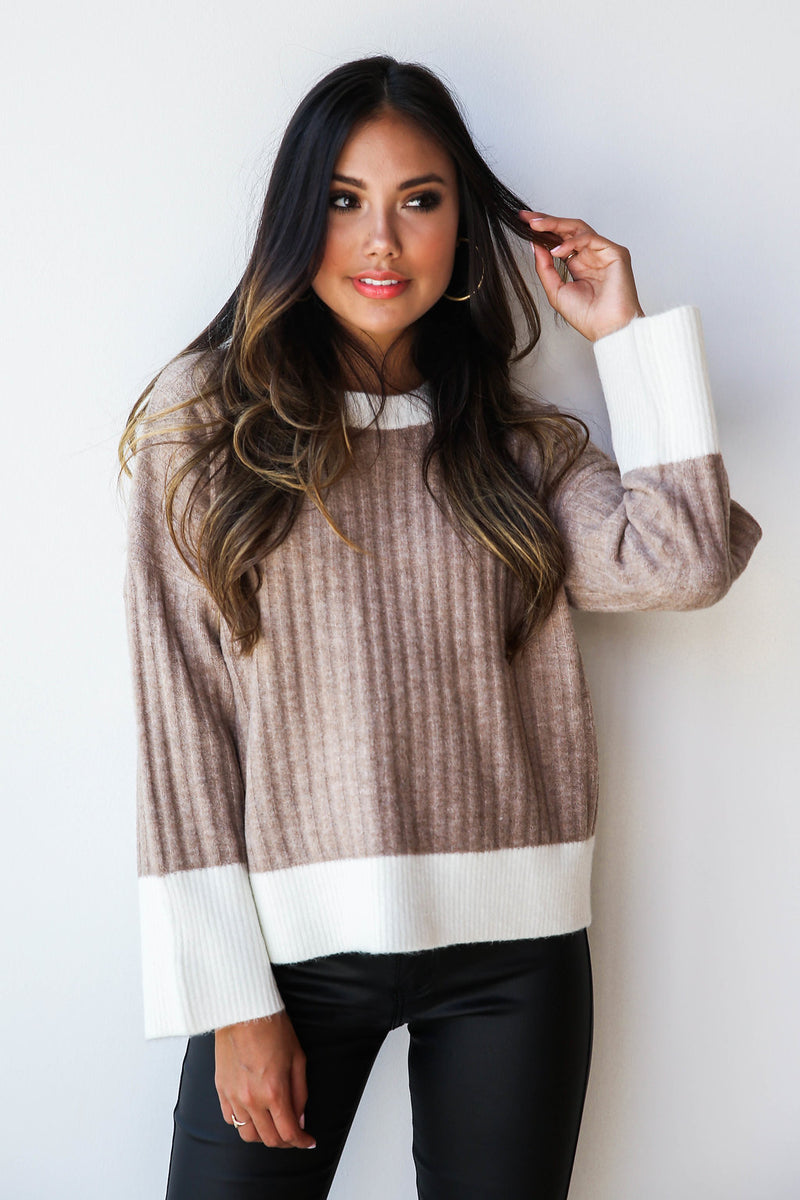 mode, classic color block knit