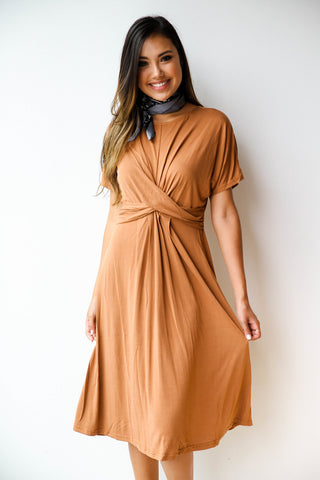 [shop name], modal twist front dress