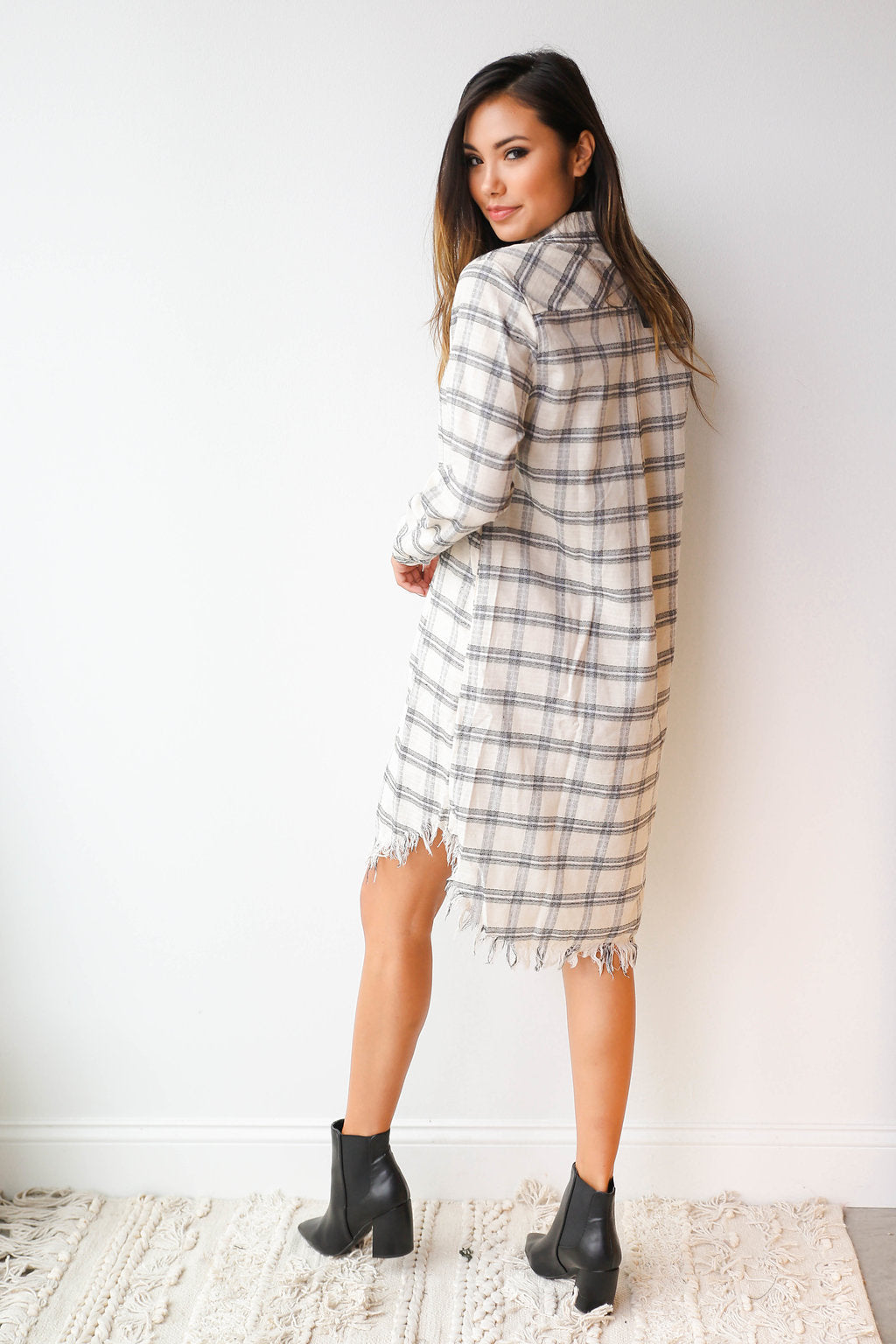 mode, Imagine plaid dress