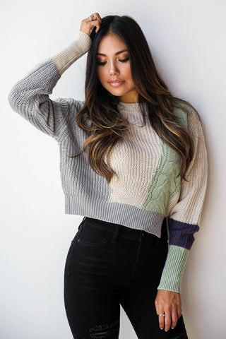Kaleidescop crop sweater