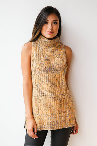 speckle sleeveless sweater