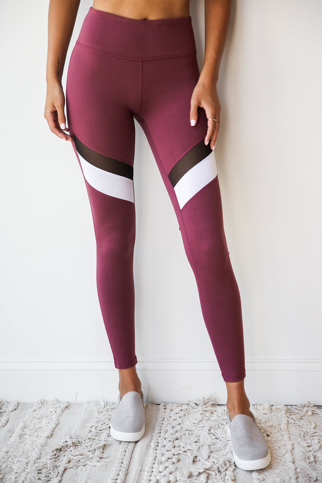 mode, color slash legging
