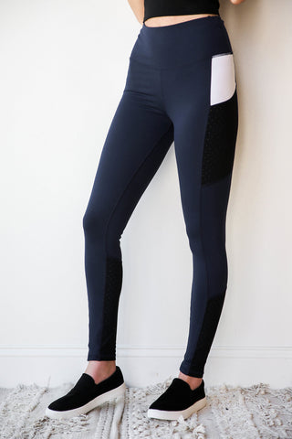 [shop name], laser cut color block leggings