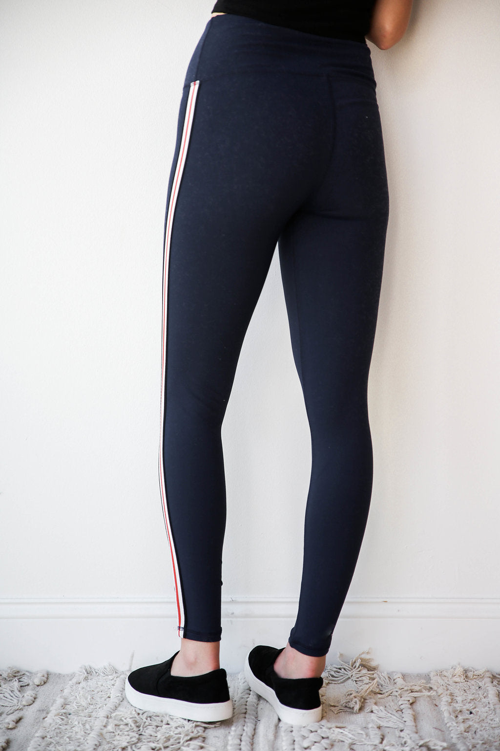 mode, American stripe leggings