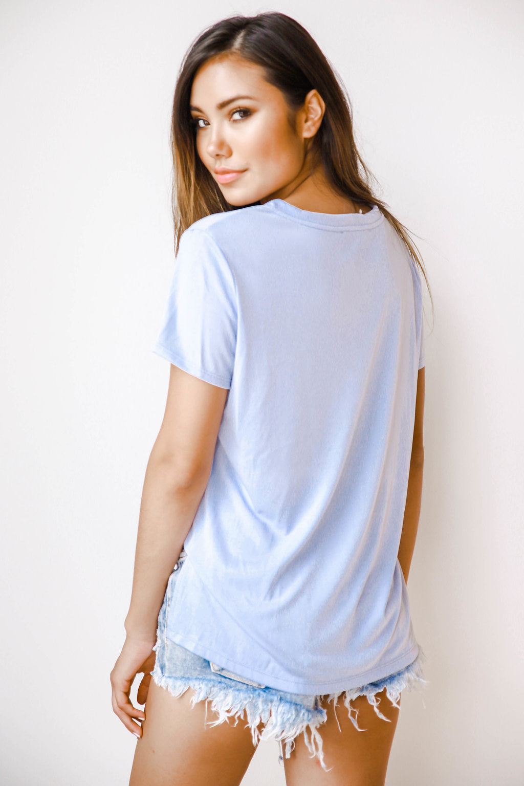 mode, Kaitlyn V neck short sleeve tee